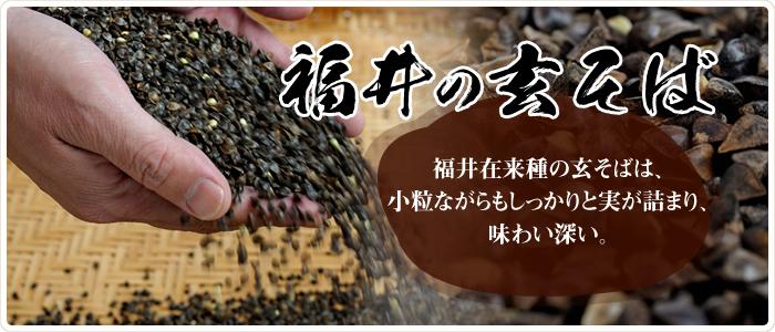 福井県産の玄そば(福井在来種)