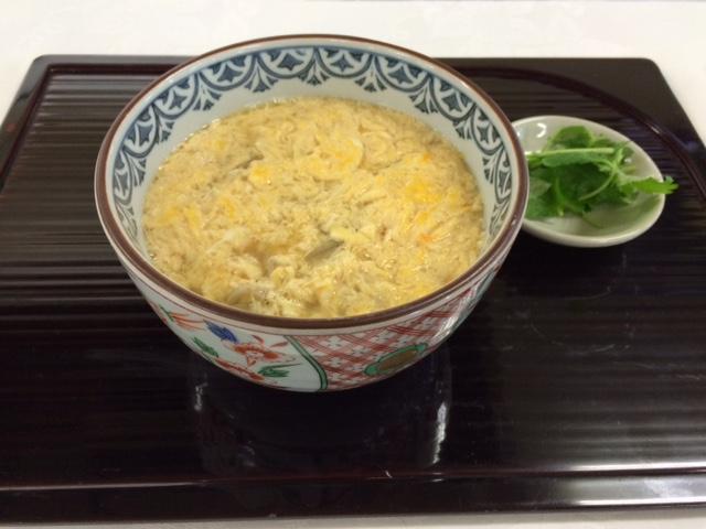 蕎麦・天婦羅やす竹の卵とじ蕎麦