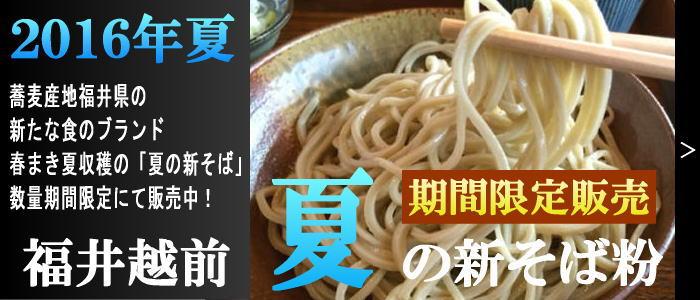 平成28年産 福井越前夏の新そば粉 (抜き実挽き) /福井県産 1kg