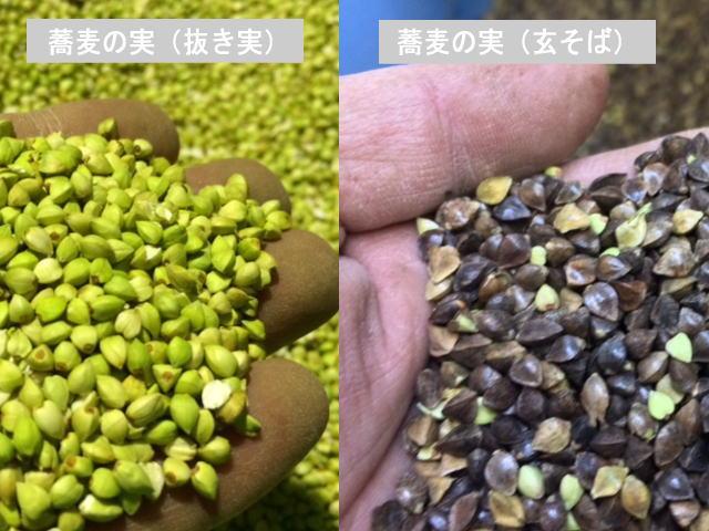 玄蕎麦と抜き実(丸抜き)