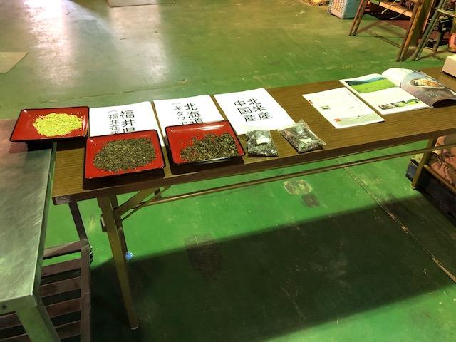 外国産国内産福井県産蕎麦の実の比較