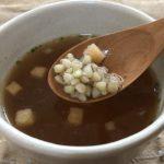 調理例:そばの実(抜き実)入りのコンソメスープ