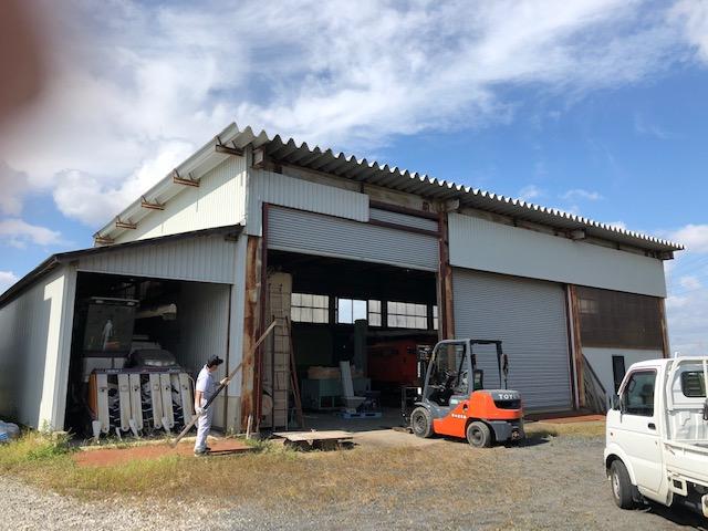 収穫したソバの乾燥調製施設の準備