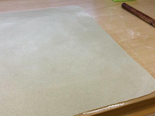 令和元年福井県産秋の新そば粉の試し打ち(四つ出し時)